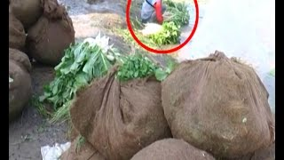 Vegetable and fruits sold in Baroda washed in dirty water