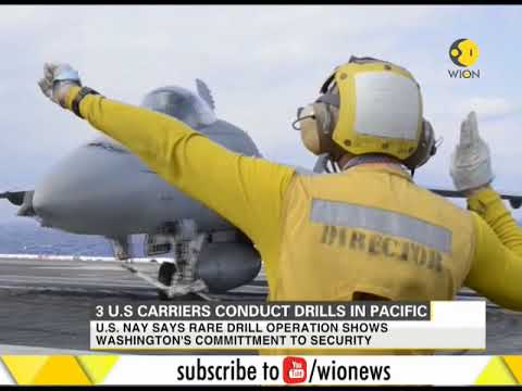 3 U.S. carriers conduct drills in Pacific