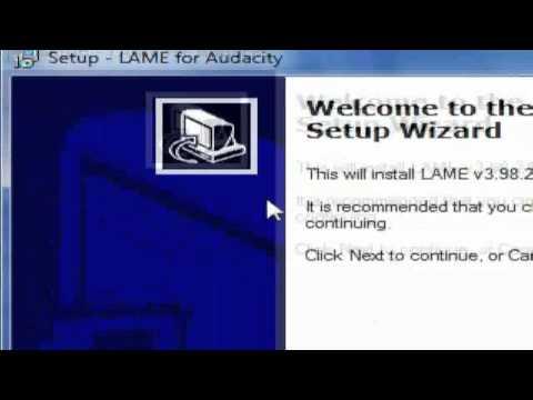 Audacity MP3 Codec Tutorial ((Request))