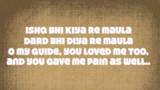 Maula Jism 2 Lyrics* with English Translation (Ali Azmat)