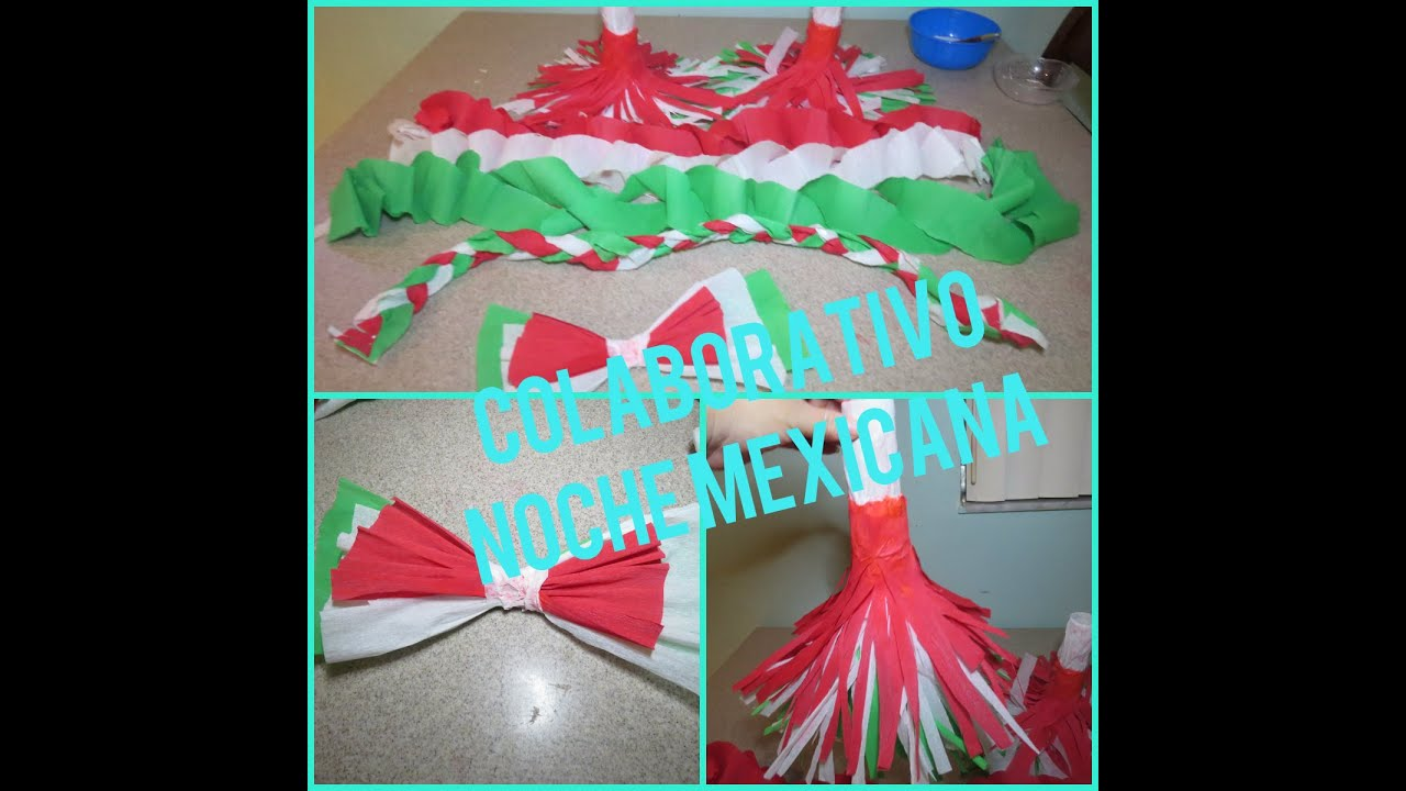 Decoracion con papel crepe colaborativo noche mexicana for Decoracion con papel