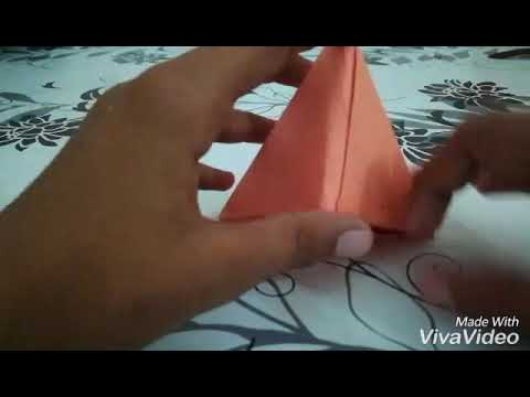 How to make a paper pyramid box very easy