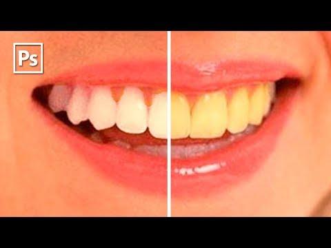 Лучший способ отбелить зубы в Photoshop || Уроки Виталия Менчуковского