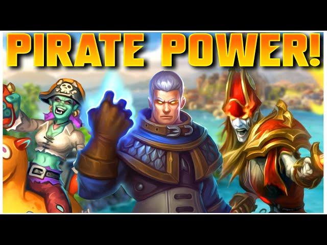 Grubby starts Hearthstone Battlegrounds! - FINALLY Feeling Eliza Pirate Power!