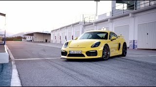 Porsche: The new Cayman GT4: mid-engine hero.