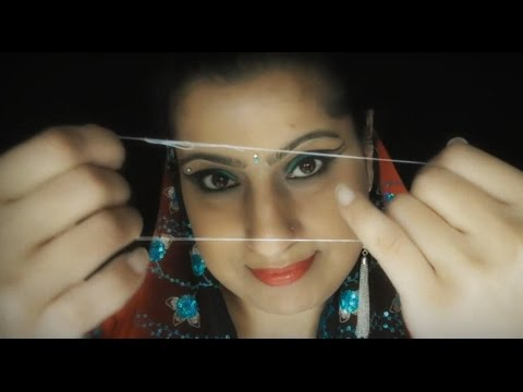 Indian ॐ Eyebrow Threading at Auntie Coco's SPA - Role Play ASMR