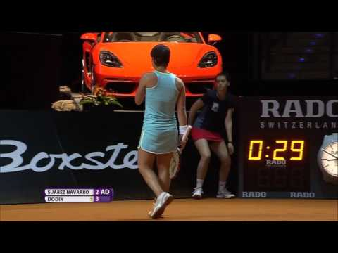 2016 Porsche Tennis Grand Prix First Round | Carla Suarez Navarro vs Oceane Dodin | WTA Highlights