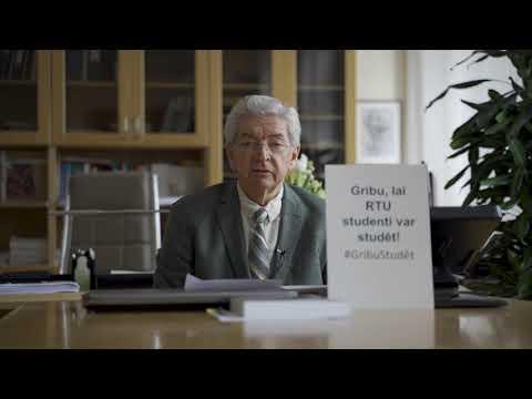 RTU Rektora Leonīda Ribicka uzruna studentu atbalstam
