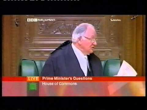 Gordon Brown PMQs - Speaker Michael Martin reprimand