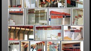 як виготовити стійку для струбцин - how to make clamp storage rack