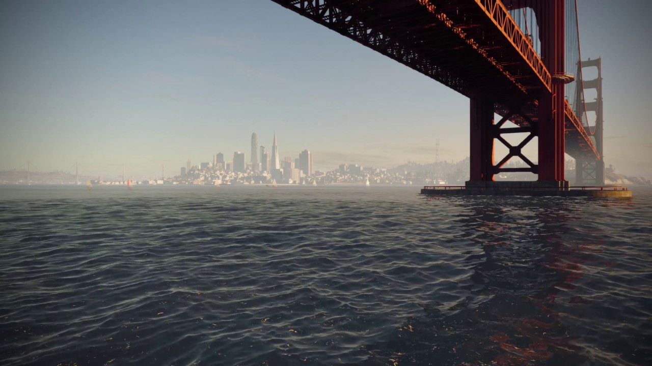 San Francisco Cityscape Watchdogs 2 Live Wallpaper Youtube