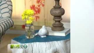 Turn Old Tree Stumps Into Home Decor