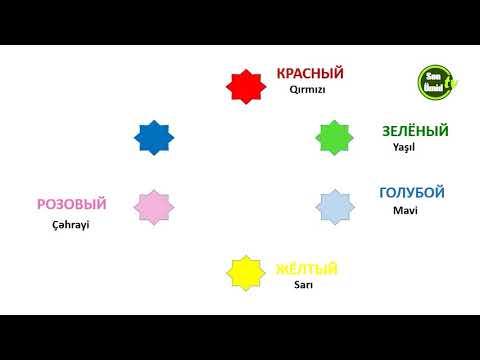 Русский язык для начинающих.Урок 5.Изучаем цвета.