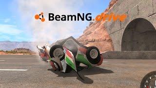 BeamNG drive | Duro contra el Muro de Concreto