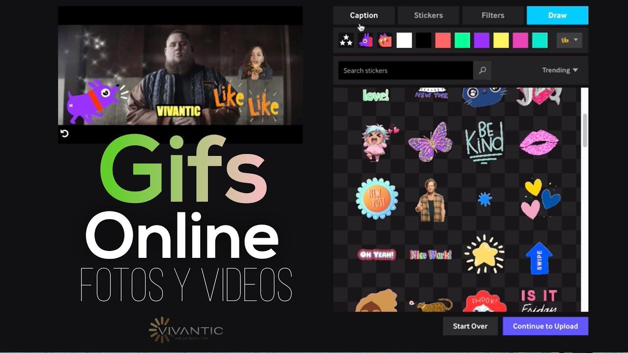 3 Programas Online Crear Gifs Con Efectos De Fotos Y Videos Gratis 2019 Youtube