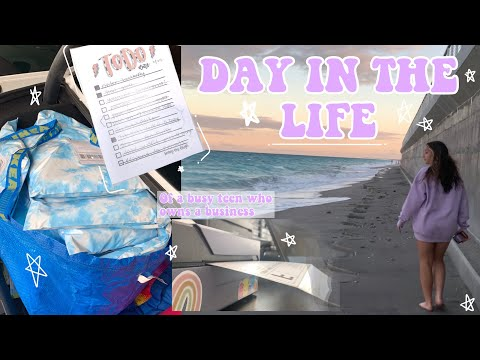 Day in my life vlog! 14 year old business owner// BOARDWALK BEADS