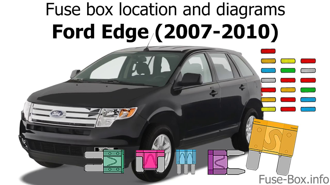 medium resolution of fuse box location and diagrams ford edge 2007 2010 youtube ford edge fuse panel diagram