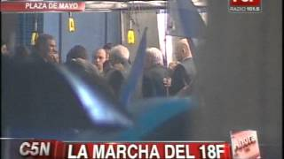 C5N -  MARCHA DEL SILENCIO: MINUTO DE SILENCIO Y EL HIMNO NACIONAL