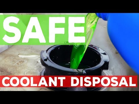 How to dispose of Radiator Coolant Antifreeze for FREE