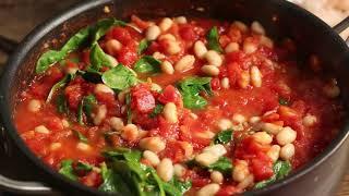 One-Pot Shrimp White Beans Tomatoes