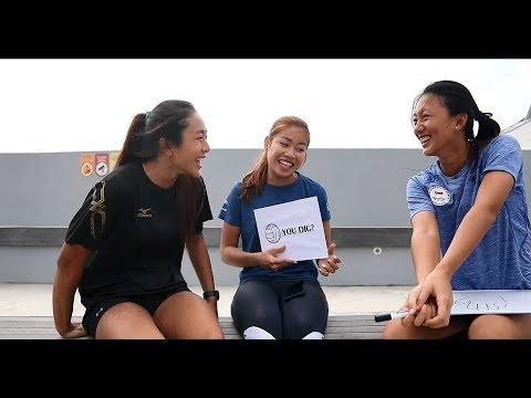 Beach Volleyballers Ong Wei Yu and Eliza Chong 'Pictionary' Game [feat. Kerstin Ong]