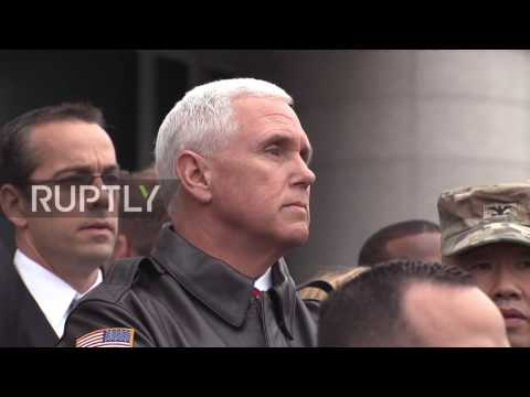 South Korea: Pence visits demilitarised zone at N. Korean border