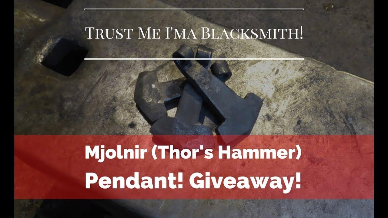 Handmade Viking Mjolnir/' Blacksmith/'s Hammer Pendant,