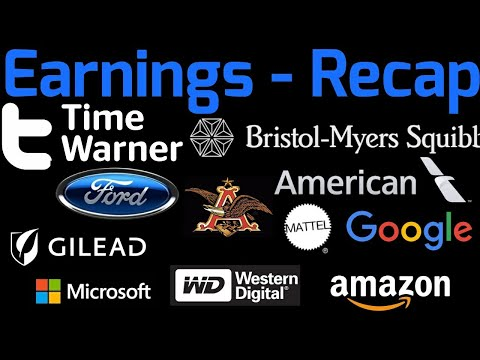 Earnings - Recap October 26, 2017 Microsoft, Western Digital, Mattel, Amazon and more!