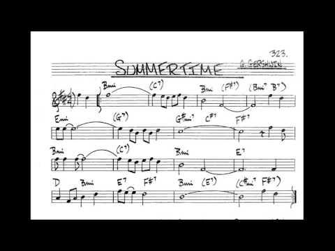 Summertime Play along - Backing track (Bb key score trumpet/tenor sax/clarinet)