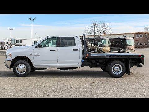 2017 DODGE RAM 3500 CREW CAB SLT - Flatbed - Transwest Truck Trailer RV (Stock #: 5U171133)