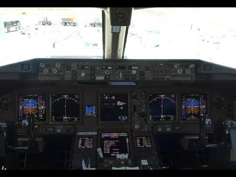 COCKPIT VIDEO   Boeing 777-300ER Cockpit Take Off at Paris Charles de Gaulle Airport