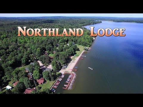 Northland Lodge on Minnesota's Leech Lake Aerial Video