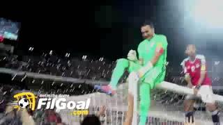 FilGoal.com عصام الحضري يحتفل بعد الفوز على غانا