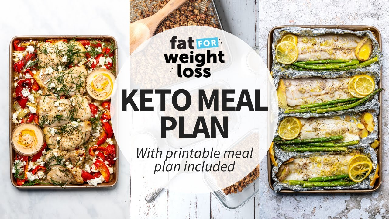 EASY 7 Day Keto Meal Plan For Women | For Weight Loss