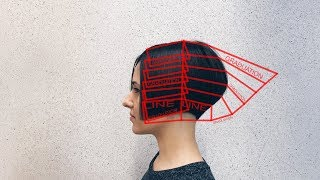 how to cut short bob with classical graduation