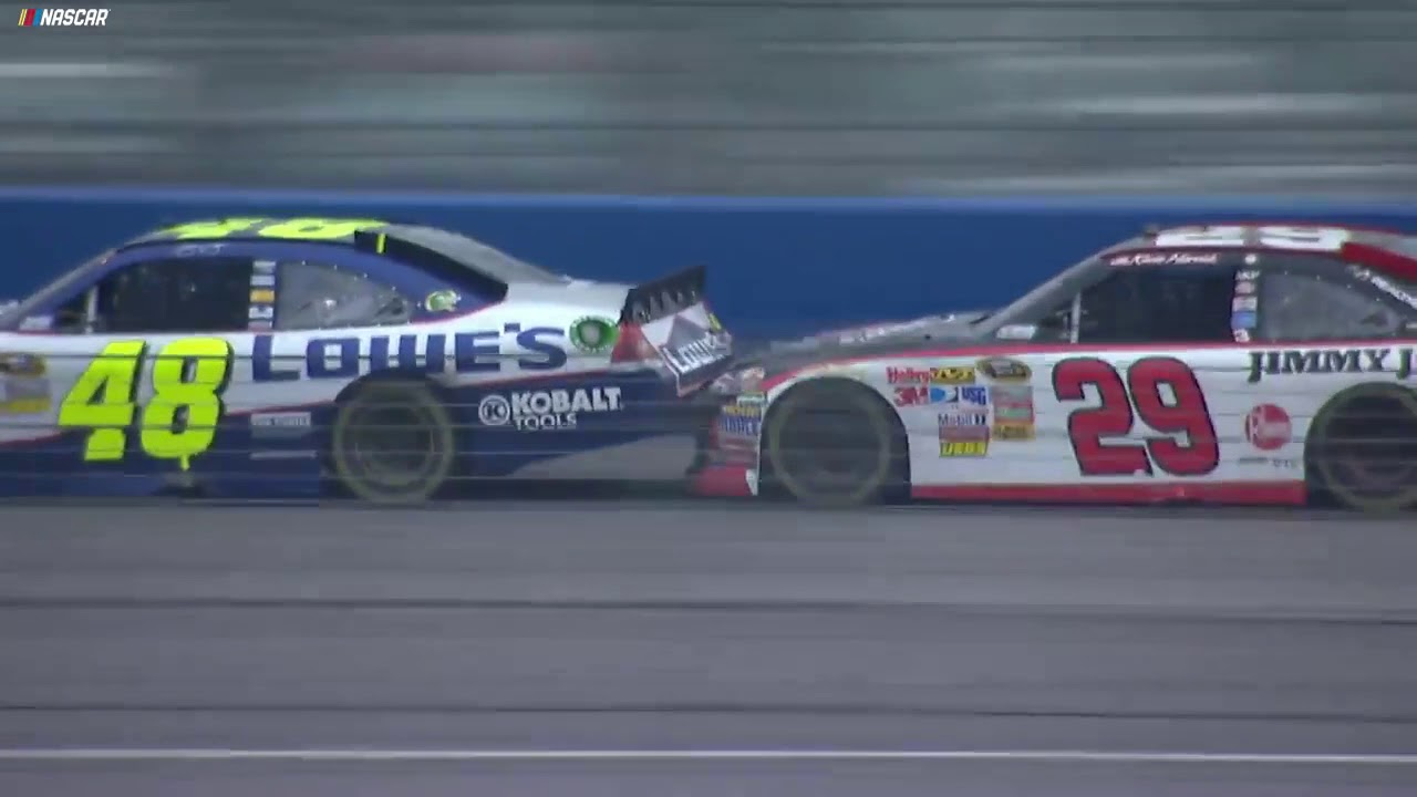 Relive thriller between Harvick, Johnson at Auto Club in 2011