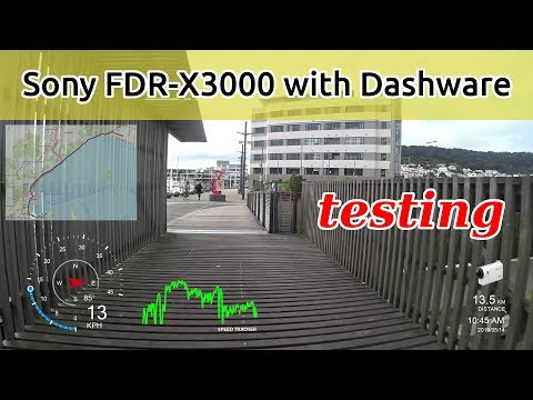 Sony FDR-X3000 with Dashware Overlay Software