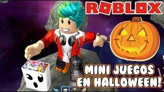 Mini Juegos en Halloween ? Minijuegos épicos Roblox Juegos Roblox Karim Juega