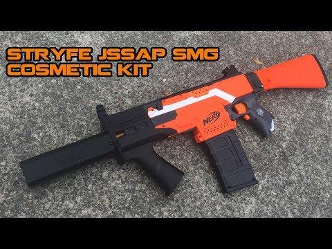 NERF Stryfe F10555/Worker JSSAP SMG Upgrade Kit Install & Review | Walcom S7