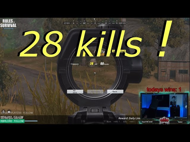 RULES OF SURVIVAL BANNED AFTER SETTING KILL RECORD 28KILLS !!! RANK 10 OVERALL IN ROS
