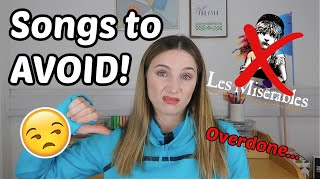 SONGS TO AVOID FOR DRAMA SCHOOL AUDITIONS | QUICK AUDITION TIPS | Georgie Ashford