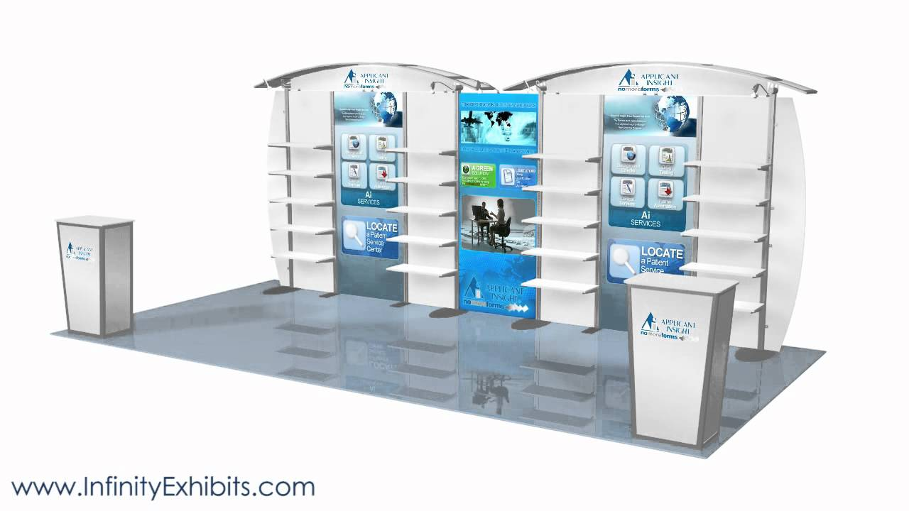 Exhibition Booth Types : Ft modlite arch with shelves trade show display booth