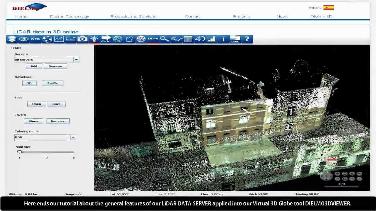 LiDAR data online inside Dielmo 3D Viewer  Part 2_LiDAR Mobile