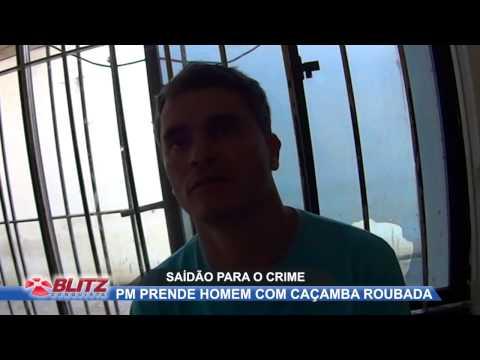 HOME É PRESO COM CAÇABA FURTADA
