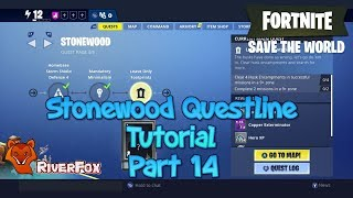 Fortnite Save The World (STW) Questline tutorial part 14 - Leave Only Footprints