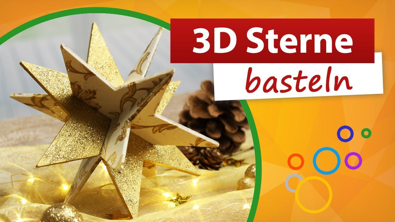 3d Sterne Basteln Weihnachtssterne Selber Machen Trendmarkt24