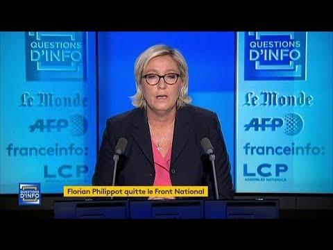 """""""Je respecte sa décision mais je conteste formellement l'habillage"""" déclare Marine Le Pen"""