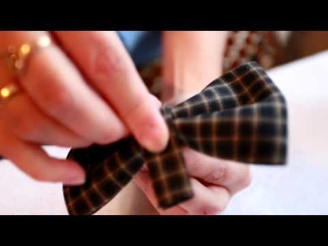 Мастер- класс: галстук бабочка