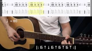 Гитарный бой № 8 (урок | разбор) dieza.NET (Ойся, ты ойся, ты меня не бойся)