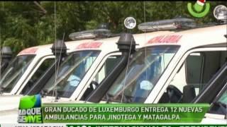 Gran Ducado de Luxemburgo entrega 12 nuevas ambulancias para Jinotega y Matagalpa